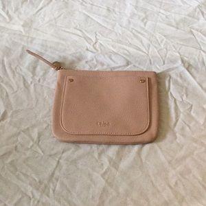 Chloe beige zipper pouch